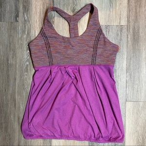 Lululemon Striped and Purple Racer Back Top